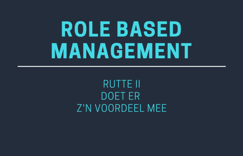 Role Based Management