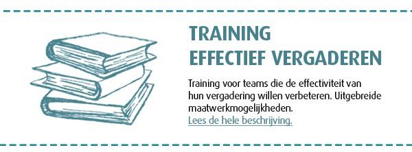 training effectief vergaderen - aanbod