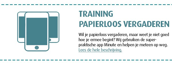 training papierloos vergaderen