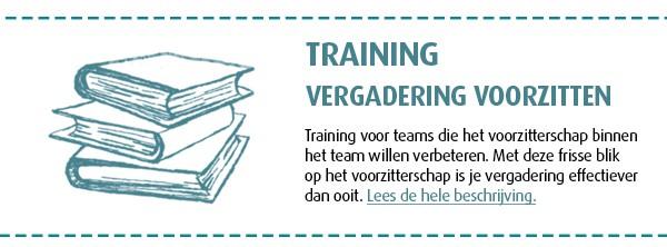 training vergadering voorzitten